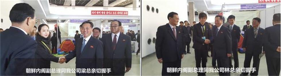 我公司梁总与林总同内阁副总理亲切握手