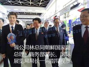 我公司林总同朝鲜国家副总理、商务部部长、国际展览局局长一同指导视察